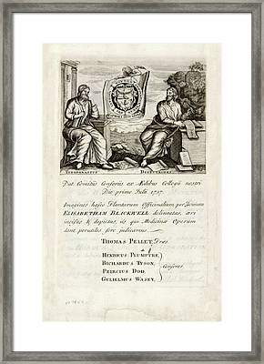 A Curious Herbal (1737) Framed Print by National Library Of Medicine
