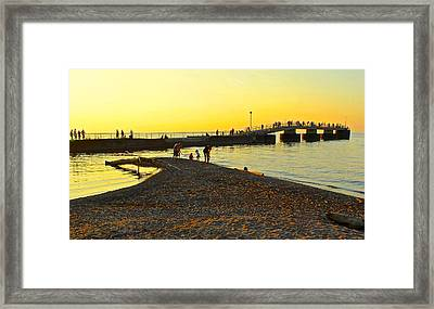 A Day At The Beach Framed Print by Frozen in Time Fine Art Photography