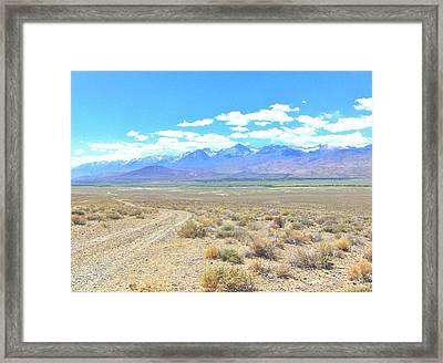A Desert Drive Framed Print by Marilyn Diaz