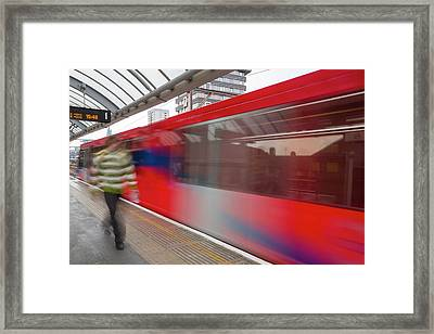 A Docklands Light Railway Train Framed Print