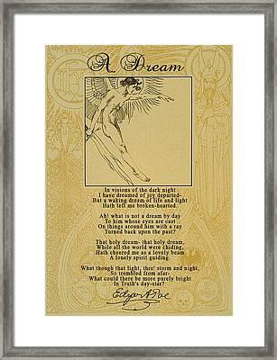 A Dream By Edgar Allan Poe Framed Print
