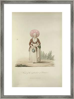A Dutch Woman Framed Print by British Library