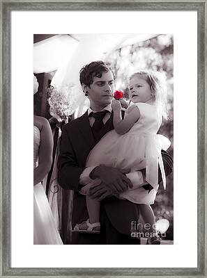 A Fathers Love For His Daughter Framed Print