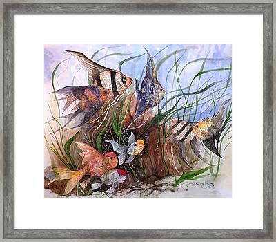 A Fishy Tale Framed Print
