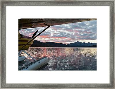 A Floatplane In Scenic Takahula Lake Framed Print