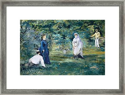 A Game Of Croquet Framed Print