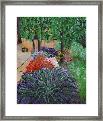 A Garden To Remember Framed Print