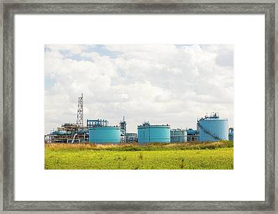 A Gas Plant Receiving North Sea Gas Framed Print