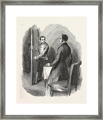 A Glass Of Wine In The Garden, The Count Of Monte Christo Framed Print by English School