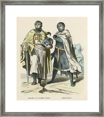A Grand Master Of The Teutonic  Knights Framed Print by Mary Evans Picture Library
