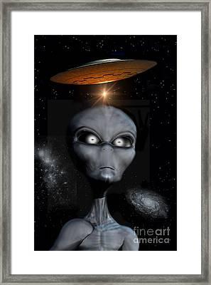 A Grey Alien Framed Print by Mark Stevenson