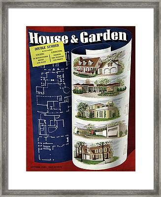 A House And Garden Cover Of Houses Framed Print by Robert Harrer