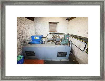 A Hydro Electric Turbine Framed Print