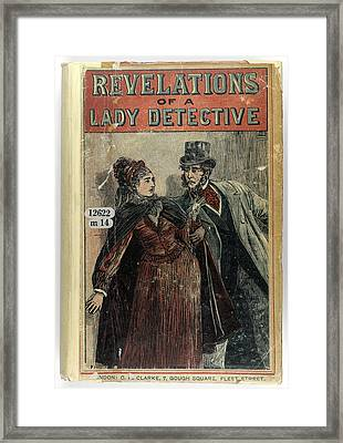 A Lady Detective Framed Print by British Library