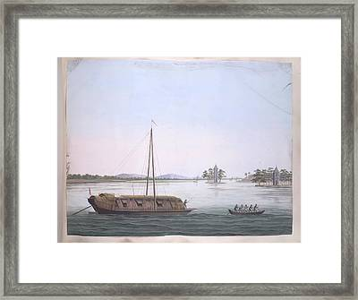 A Large And A Smaller Boat Framed Print