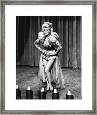 A Lawless Street, Angela Lansbury, 1955 Framed Print