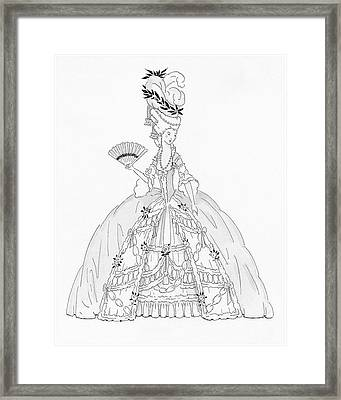 A Marie Antoinette Styled Woman Framed Print