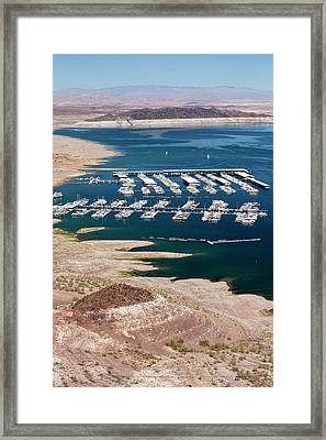 A Marina On Lake Mead Framed Print by Ashley Cooper