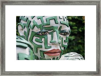 A Maze Ing Man 10 Framed Print by Rob Hans