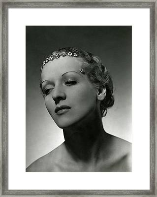A Model Wearing Cartier Diamonds Framed Print by Horst P. Horst