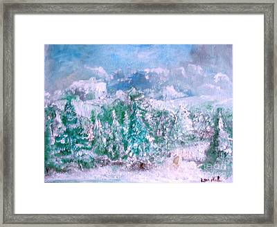 A Natural Christmas Framed Print