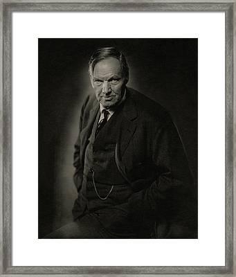 A Portrait Of Clarence Darrow Framed Print by Nickolas Muray
