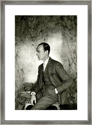A Portrait Of Fred Astaire Sitting Framed Print