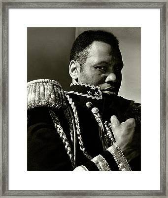 A Portrait Of Paul Robeson Framed Print