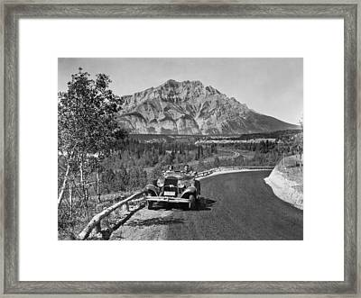 A Roadster In The Rockies Framed Print by Underwood Archives