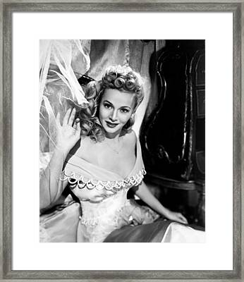 A Scandal In Paris, Carole Landis, 1946 Framed Print by Everett