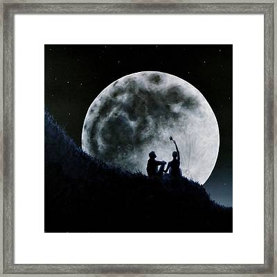 Framed Print featuring the painting A Sign Of Change Under A Full Moon Rising by Ric Nagualero