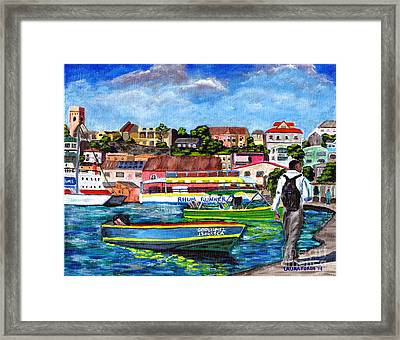 A Stroll On The Carenage Framed Print