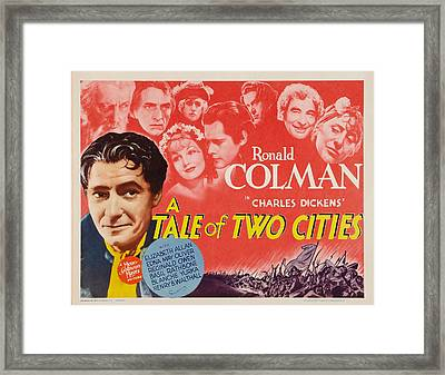 A Tale Of Two Cities, Us Lobbycard Framed Print by Everett