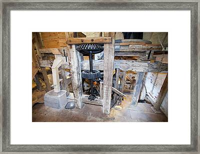 A Traditional Water Mill At Acorn Bank Framed Print