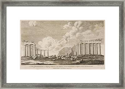 A View Of The Parthenion Framed Print
