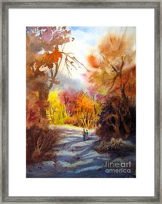 A Walk In The Fall Framed Print by Mohamed Hirji