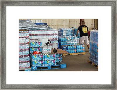 A Water Charity In Porterville Framed Print