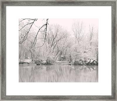 A Whisper Of Snow Framed Print