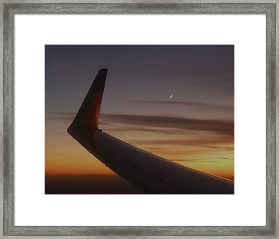 A Wing And A Moon   Framed Print