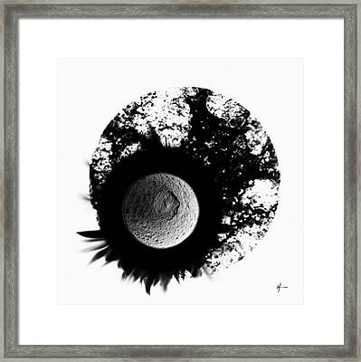 A World Within My Paint Pot --. Framed Print