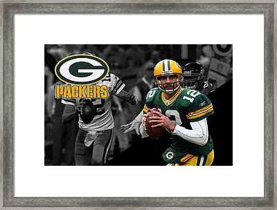 Aaron Rodgers Packers Framed Print by Joe Hamilton