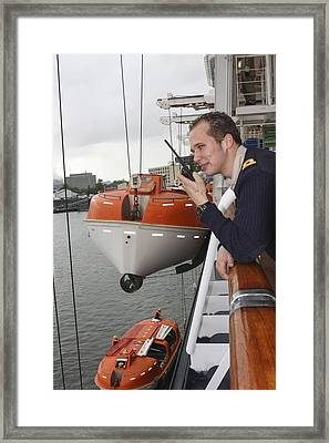 Abandon Ship Drill Framed Print
