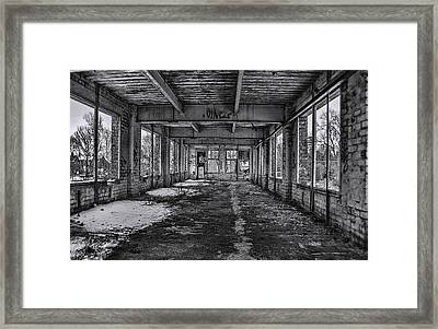 Abandonded And Empty Framed Print by Trevor Kersley