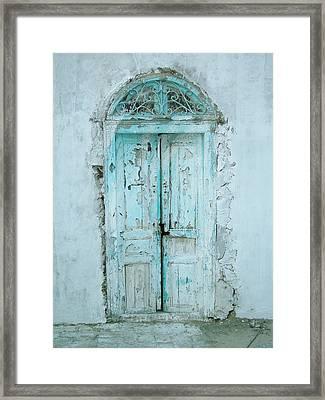 Abandoned Doorway Framed Print