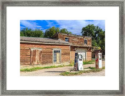 Abandoned Mining Buildings Framed Print