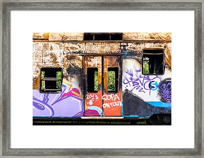 Abandoned Rail Car Framed Print by Jim Hughes
