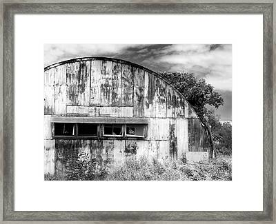 Abandoned Ww2 Quonset Hut Framed Print