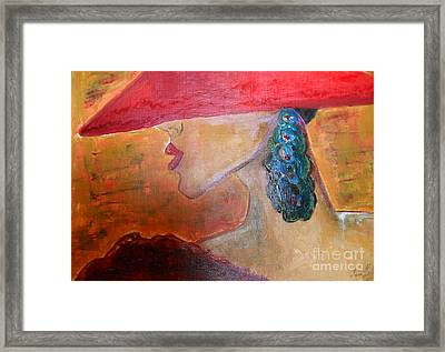 Framed Print featuring the painting Abby Marion by Iris Gelbart