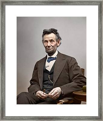 Abe Lincoln President Framed Print by Retro Images Archive