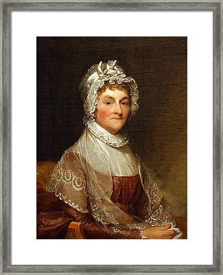 Framed Print featuring the photograph Abigail Smith Adams By Gilbert Stuart by Cora Wandel